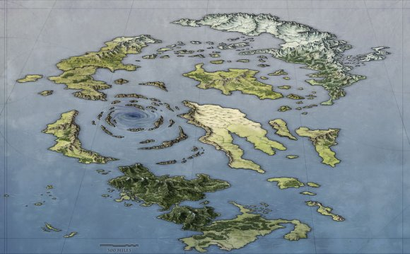 Archipelago World Map by