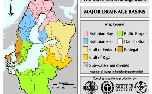 VIEW Major Drainage Basins map
