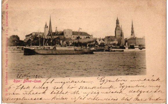 Estonia Riga postcard 1902