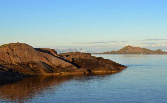 The coastline of Norway