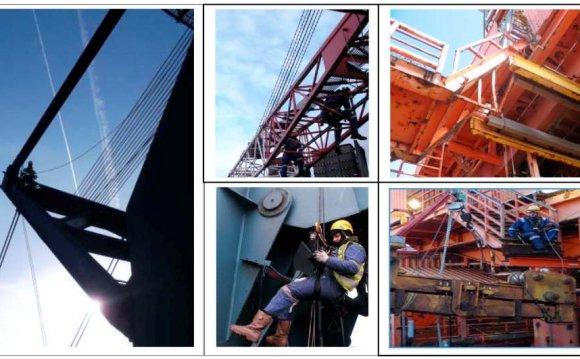 Cranes, drilling derricks and