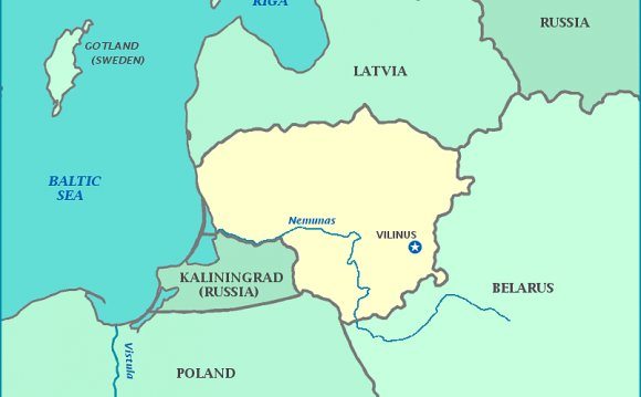 Map of Lithuania, Latvia