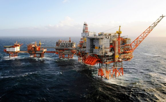 North Sea oil platforms