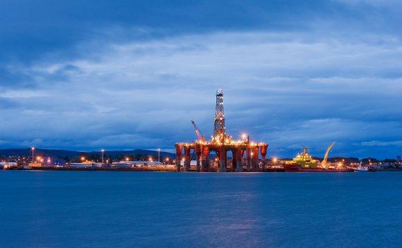 Oil rigs, North Sea oil