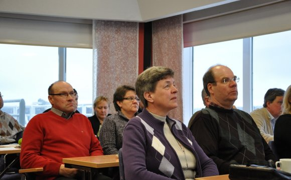 Audience listened attentively