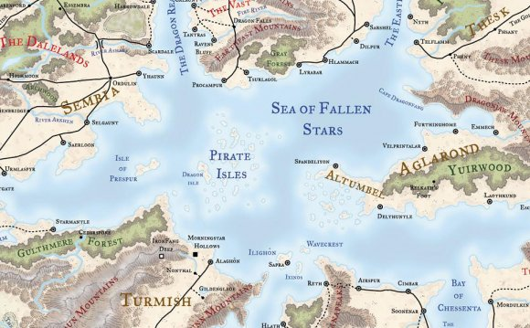 A map of the Sea of Fallen