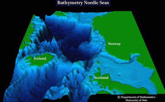 North Sea bathymetry