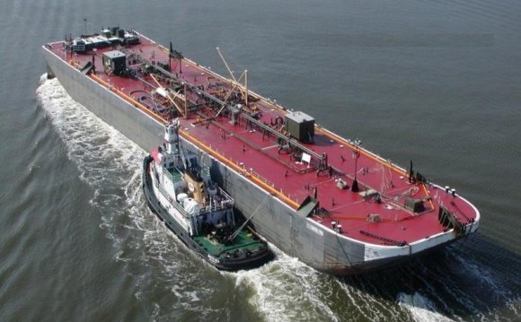 Tug Boat And Oil Barge For