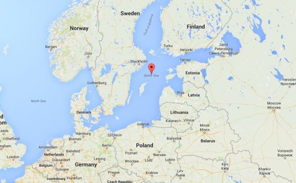 The location of the Baltic Sea