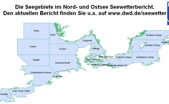 Gebiete Seewetterbericht