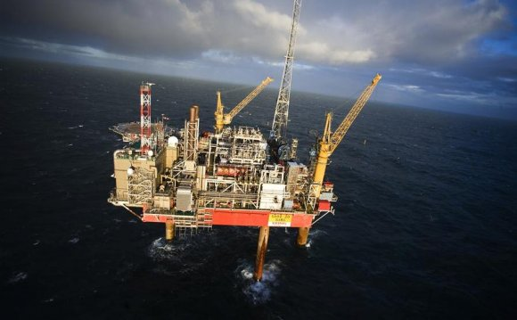 Oil fields in the North Sea