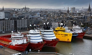 Ships in Aberdeen harbour