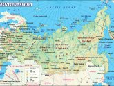 Map of Finland and Russia