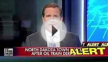 Fiery Oil Train Collision in North Dakota - Crude Oil