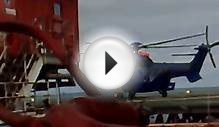 Helicopter Leaving North Sea Oil Rig