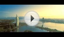 Location RIGA, object Swedbank aerial view in sunrise