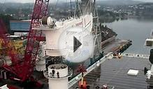 MacGregor 400t crane lifted onboard North Sea Giant