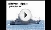 Sea Shipping PowerPoint Template Backgrounds