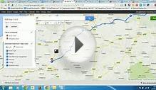 Using Google Maps to plot a cycle route